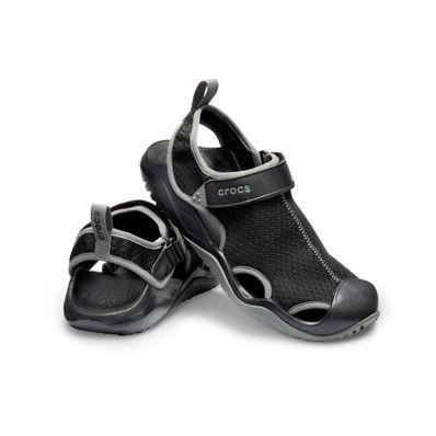 Sandalias-Crocs-Swiftwater-Mesh-Deck-Sandal-M-Color-Negro